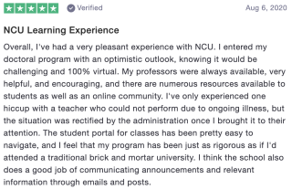 NCU Learning Experience