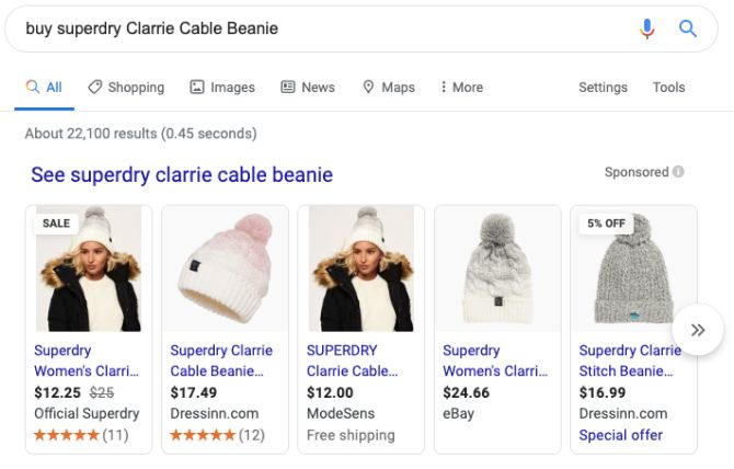 superdry google shopping product reviews example