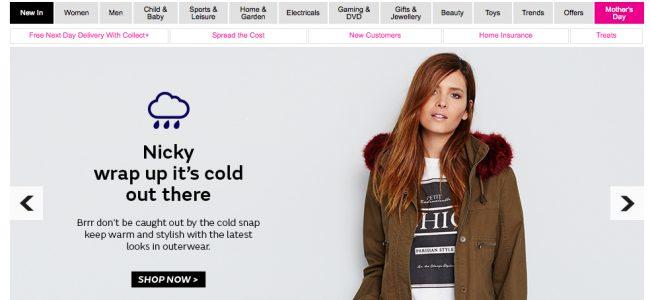 Very personalised website homepage