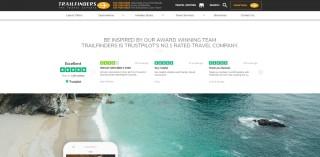 TrustBox auf der Website von Trailfinders