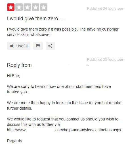 Recensione negativa, fidelizzazione dei clienti, servizio clienti