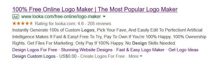 Looka Seller Ratings Example