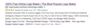 Looka Seller Ratings Example