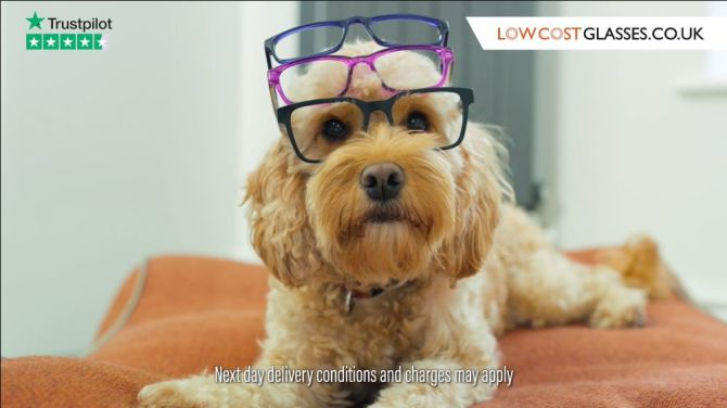 Low cost glasses tv ad Trustpilot