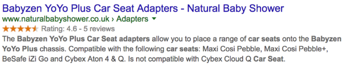 rich snippets with trustpilot