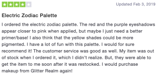 Electric Zodiac Palette