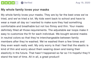 My whole family loves your masks