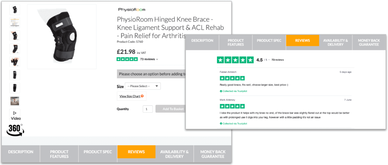 PhysioRoom Product Reviews case study hero image