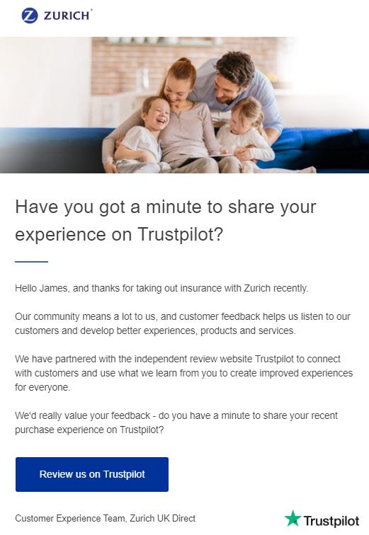 trustpilot email invitation