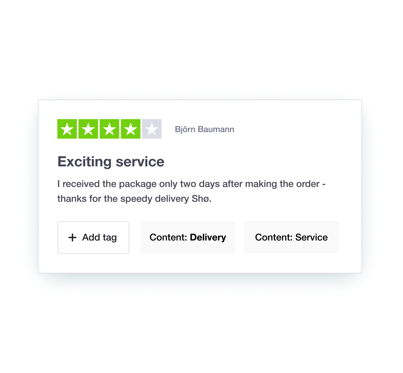 Trustpilot's Review Tagging feature