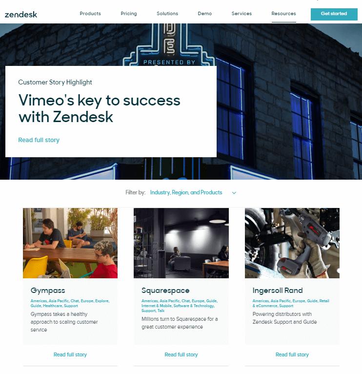 Zendesk case studies and testimonials