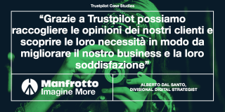 Manfrotto Trustpilot case study IT