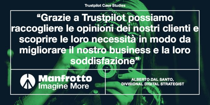 Manfrotto Trustpilot case study IT