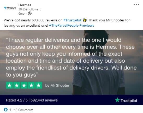 Hermes Trustpilot Image Generator 2