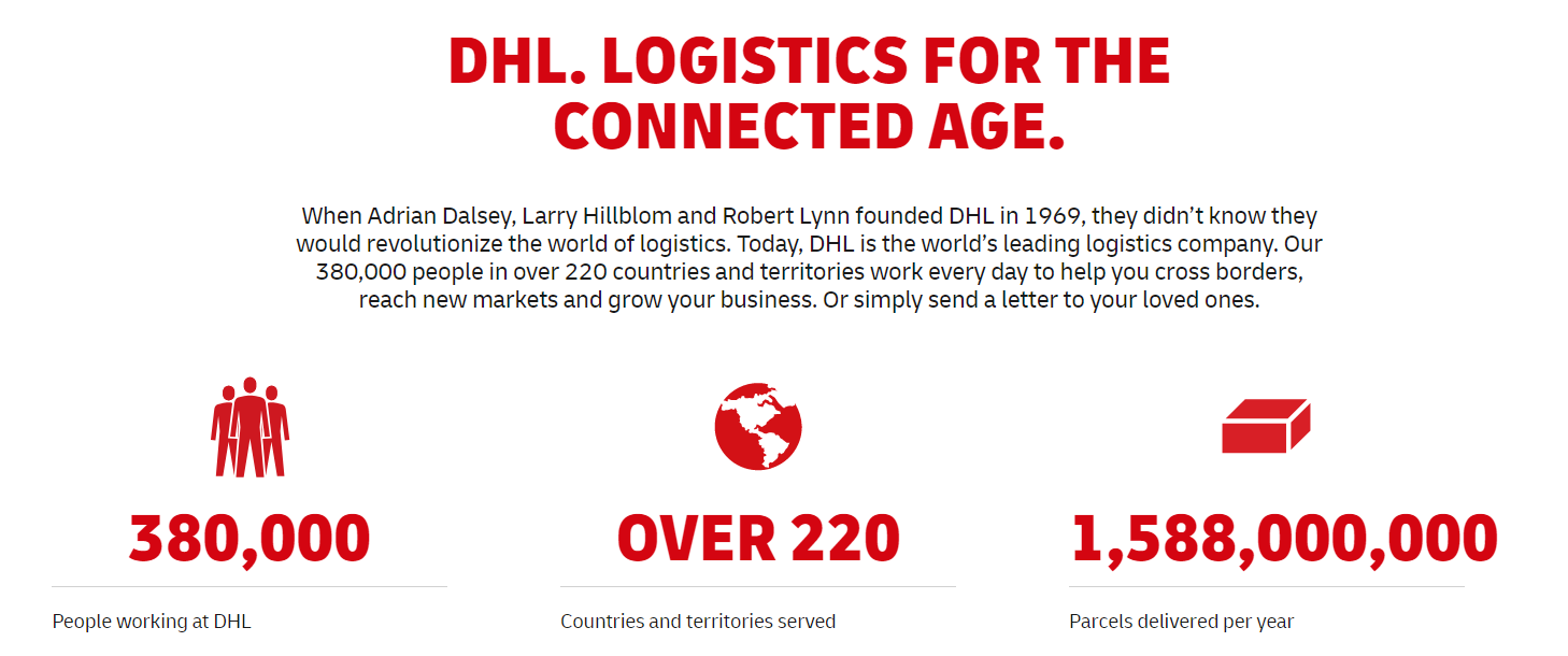 DHL data social proof