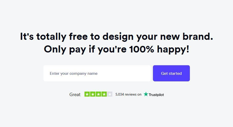 Looka boosts CTA conversions with social proof thanks to Trustboxes