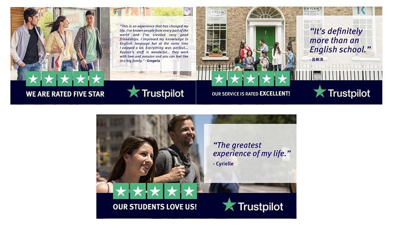 Trustpilot x Kaplan Reviews in Facebook Ads