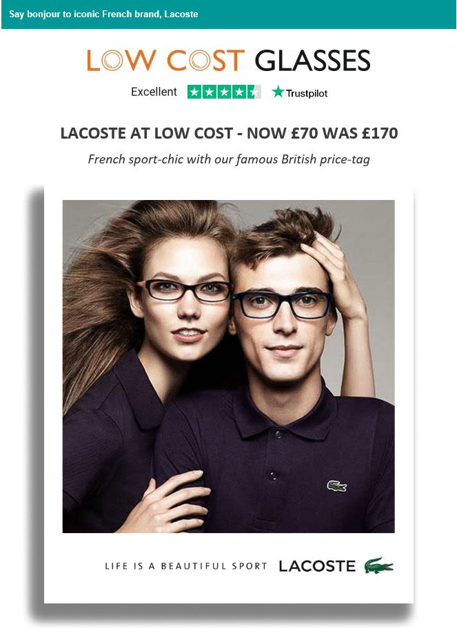 Low cost glasses email Trustpilot