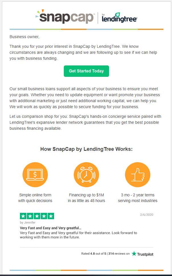 Snapcap email