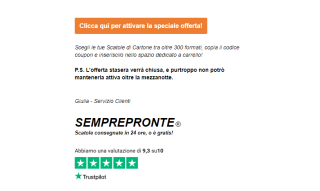 Semprepronte Email Footer with reviews