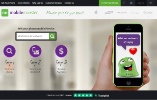 monster mobile reviews on homepage