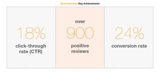 Blue Insurance key achievements