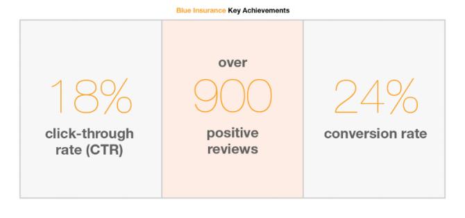 Blue Insurance key achievements