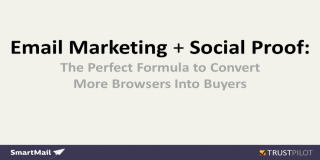 email marketing + Social Proof