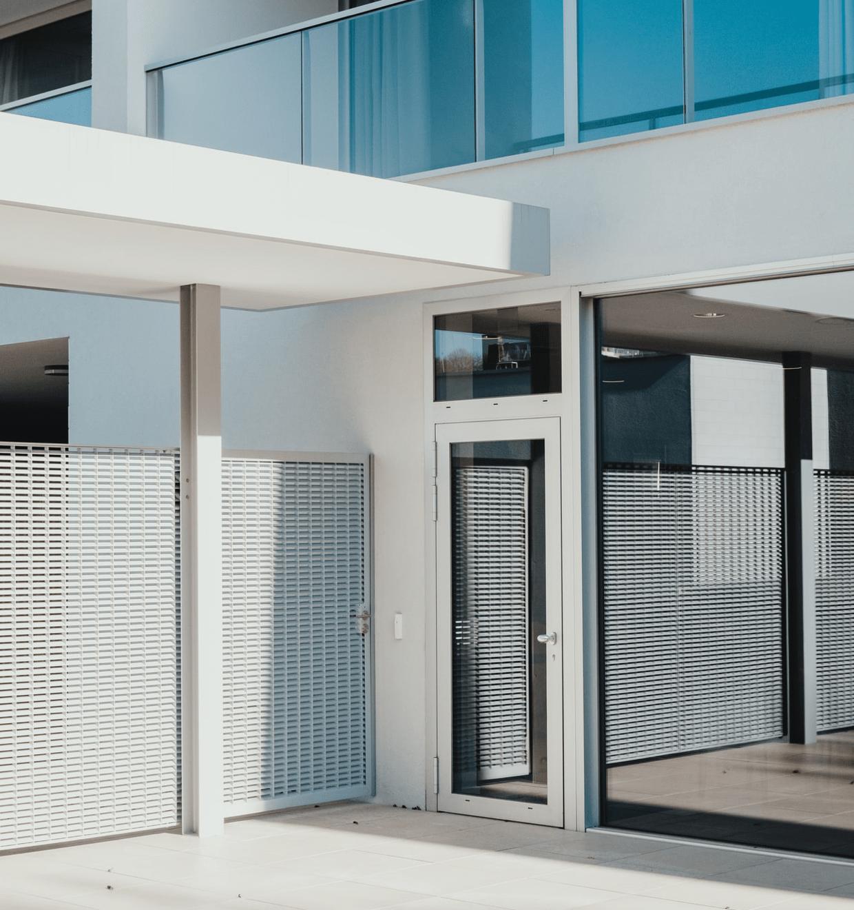 Vivint promo image of a modern building