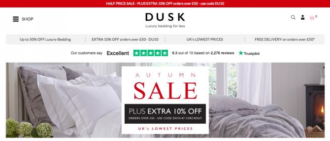 Dusk leverages trustpilot reviews