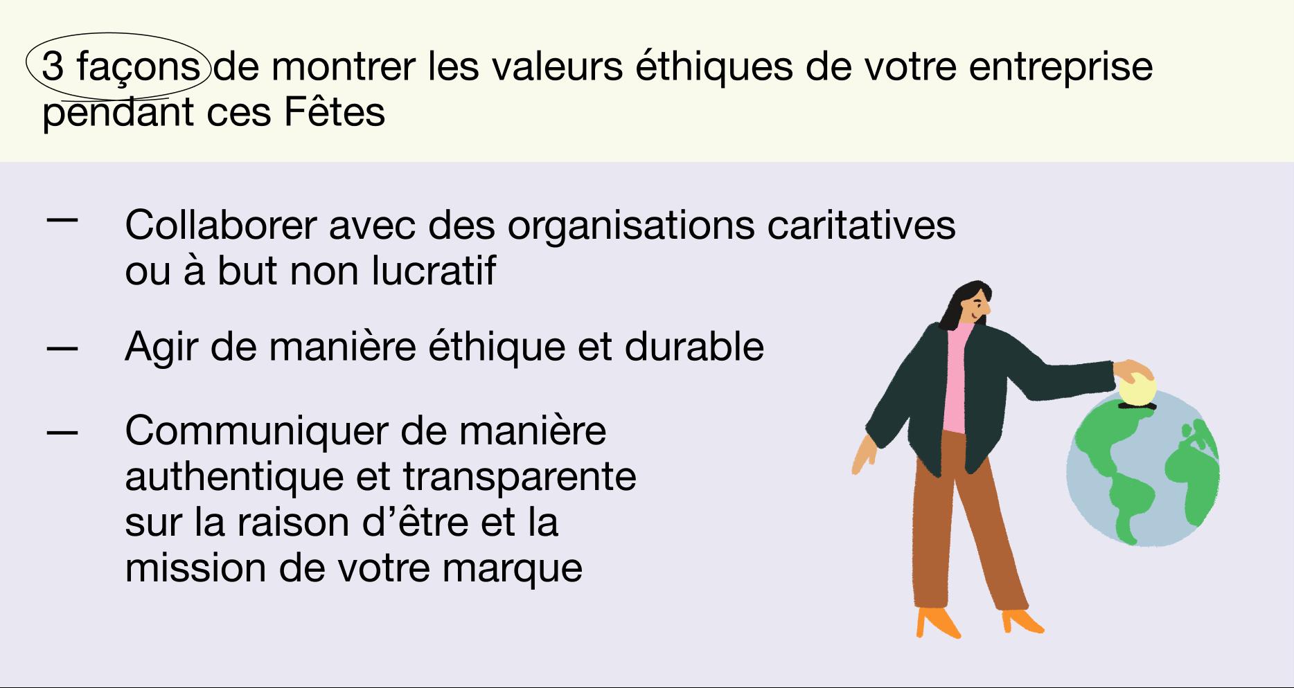 FR - Holiday report 2021 - 3 façons de montrer les valeurs éthiques de votre entreprise pendant ces Fêtes