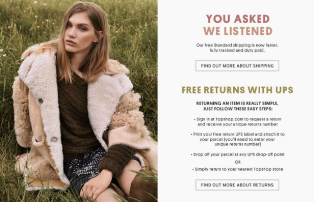 topshop customer centric