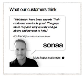 customer testimonial social proof