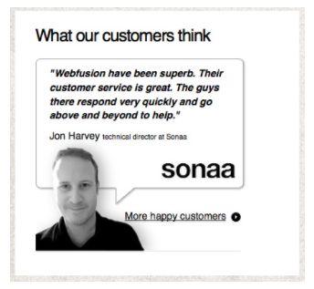Kundenkommentar als Beispiel für Social Proof