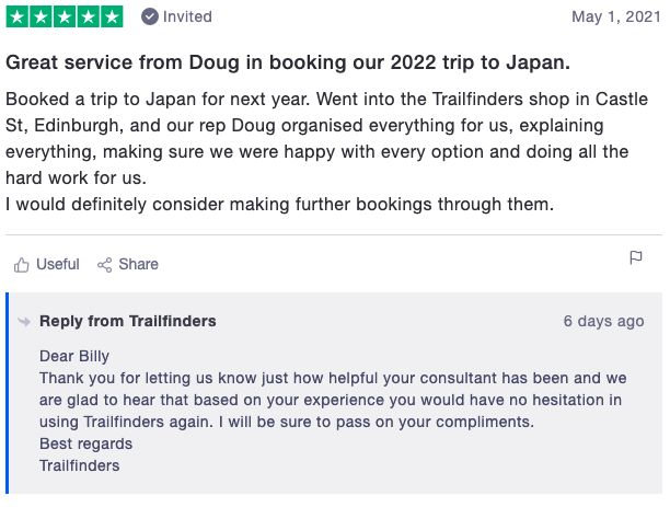 Review of Trailfinders