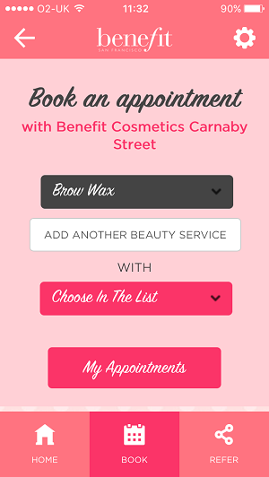 Benefit offline appointment online booking