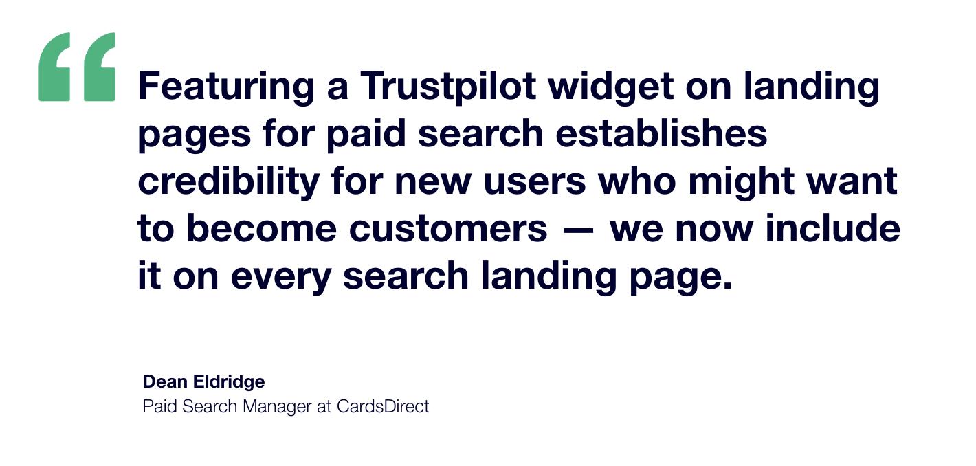 CardsDirect x Trustpilot Testimonial - Dean Eldridge