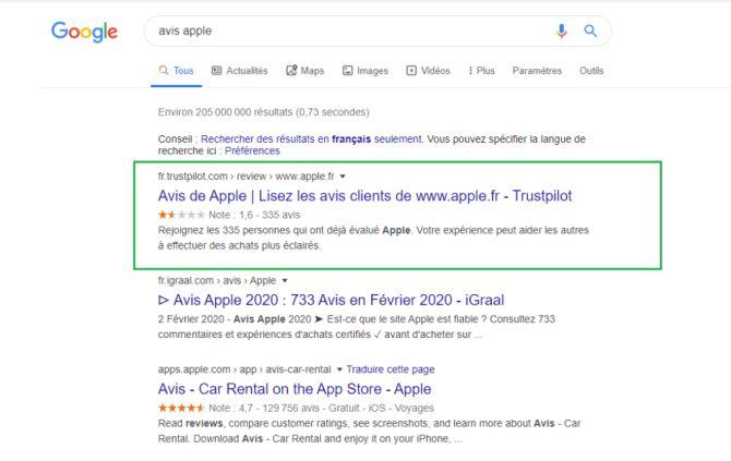 Page Google MFB
