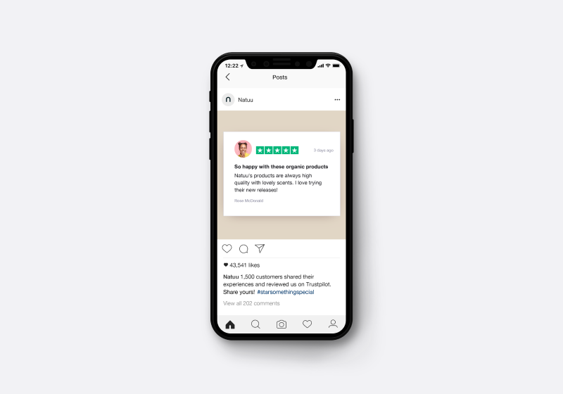 Marketing assets - Trustpilot ad on Instagram