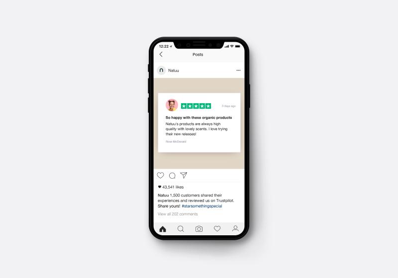 Marketing assets - Trustpilot ad on Instagram