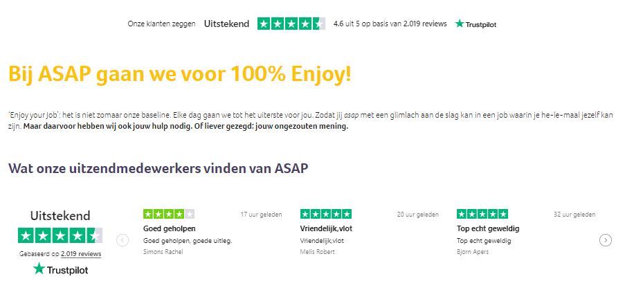 Nothing says 'You can trust us' better than customer reviews on your website