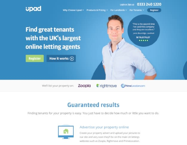 Upad-Trustpilot-Website-Homepage