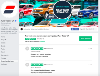 AutoTrader Trustpilot social media reputation management
