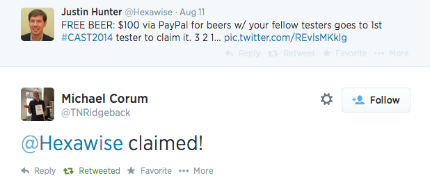 Hexawise buys the beers cast 2014 twitter