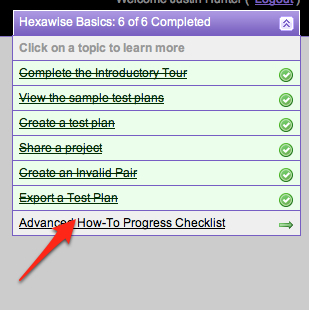 Advanced How-To Progress Checklist inline