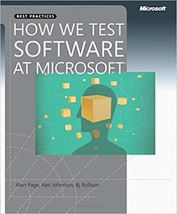 image of book cover for How We Test Software at Microsoft