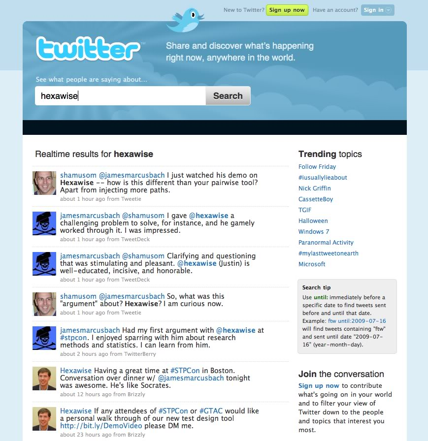 TwitterHexawiseresults-Oct232009