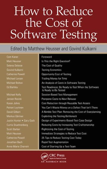 Posts for the software testing category as for books id say how to reduce the cost of software testing lee copelands a practitioners guide to software test design lessons learned in software fandeluxe Choice Image