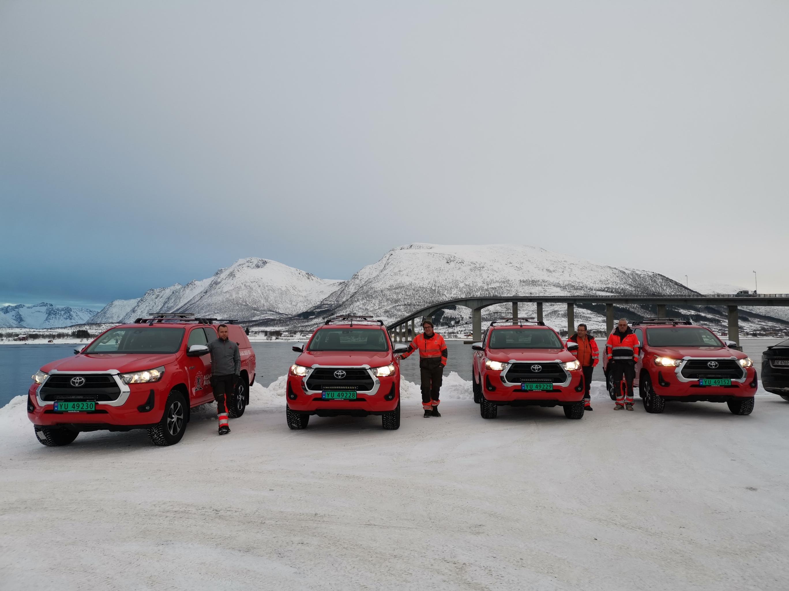 Bulldozer Maskinlag Entreprenør har investert i fire nye Toyota Hilux