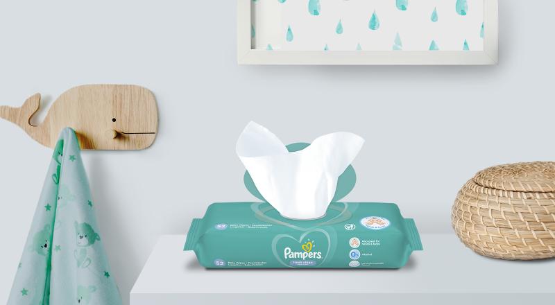 Дитячі вологі серветки Pampers® Fresh Clean